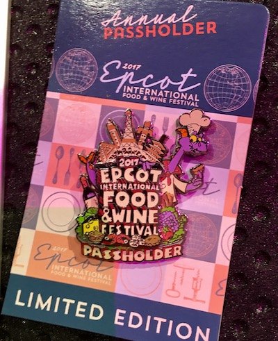 Annual Passholder Epcot Food & Wine 2017 Pin
