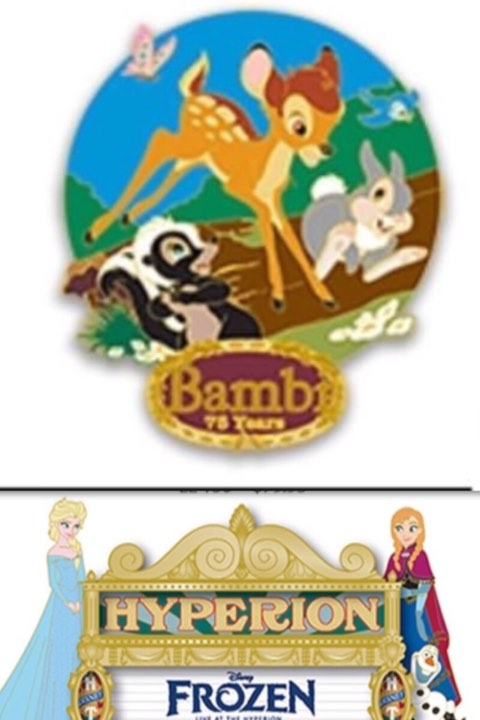 Bambi and Frozen WDI August Pins