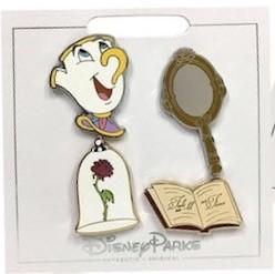 Beauty and the Beast Princess Pin Set