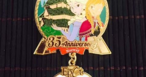 Cast Member 35th Anniversary Norway Pin – Epcot