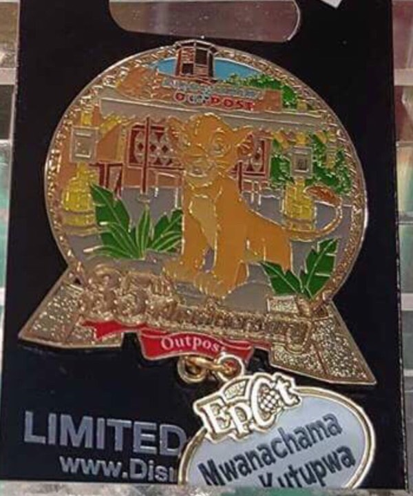 Cast Member 35th Anniversary Outpost Pin – Epcot