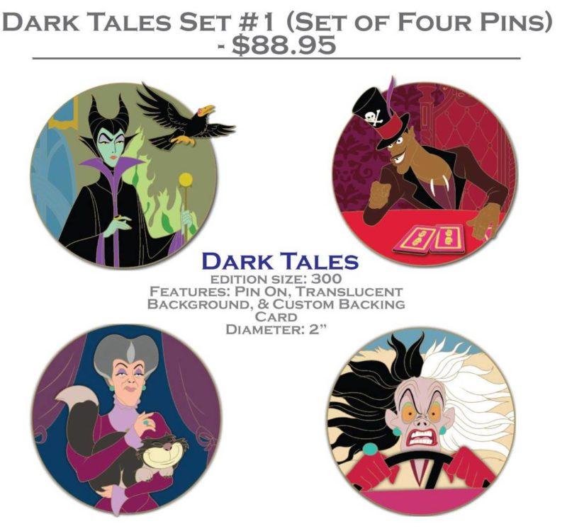 DSSH Dark Tales Pin Set #1 (Four Pin Set)