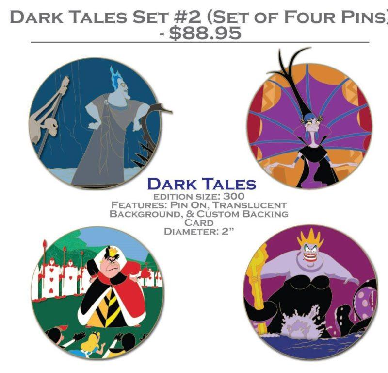 DSSH Dark Tales Pin Set #2 (Four Pin Set)