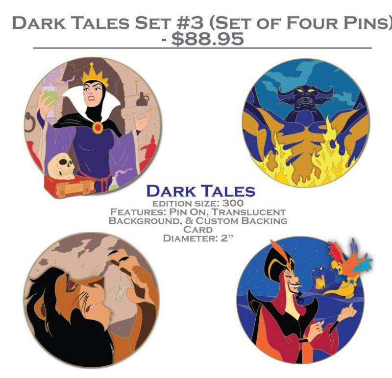 DSSH Dark Tales Pin Set #3 (Four Pin Set)