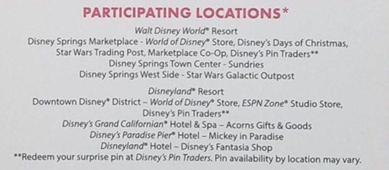 Disney PINGO - Participating Locations