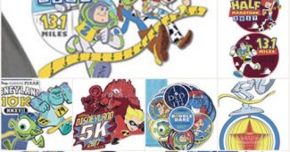 Disneyland Pixar Half Marathon Weekend 2017 Pins