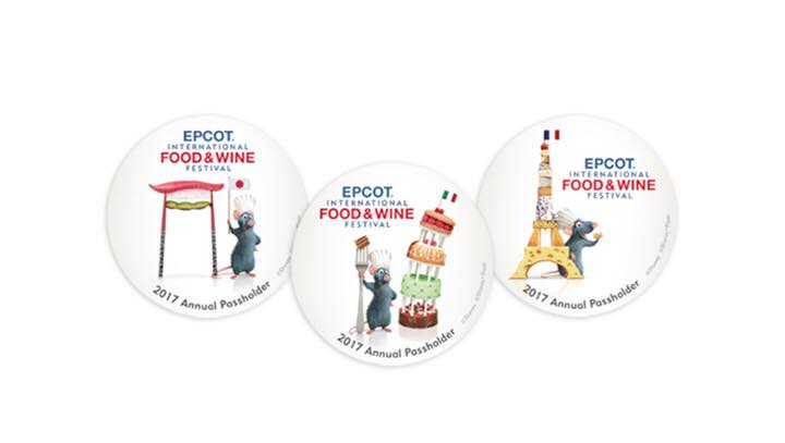 Food Wine 2017 Passholder Buttons Disney Pins Blog