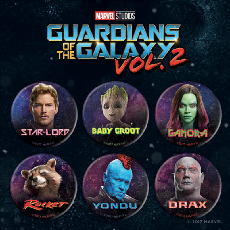 Guardians of the Galaxy Vol. 2 Button Set