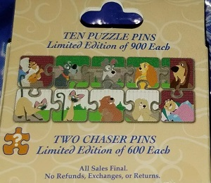 Lady and the Tramp Puzzle Pin Collection