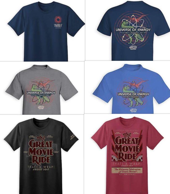 Limited Release Attraction Closing Shirts - Disney Store Shirts