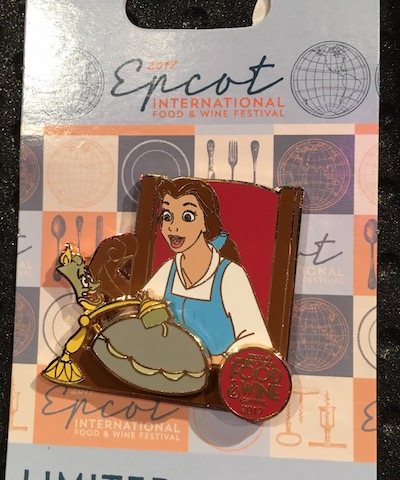 Lumiere & Belle Epcot Food & Wine 2017 Pin