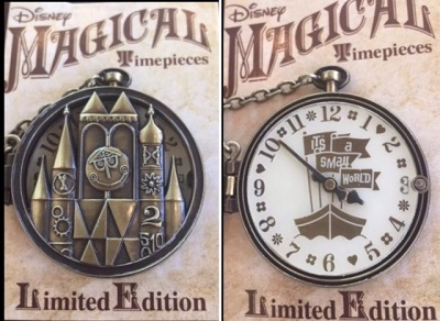 Magical Timepieces it's a small world Pin