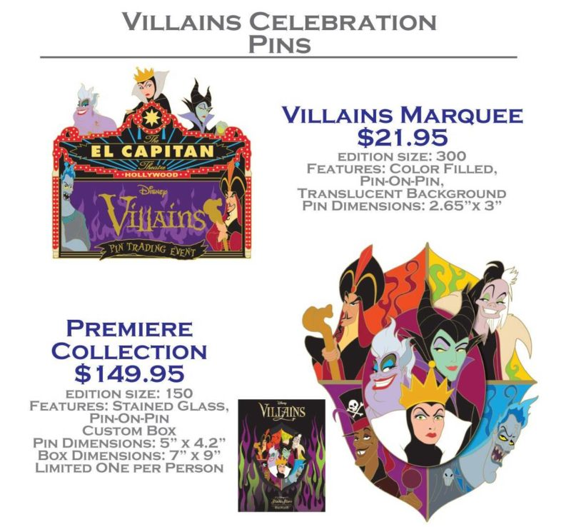 Marquee and Premiere Collection Pin
