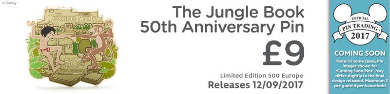 The Jungle Book 50th Anniversary Pin