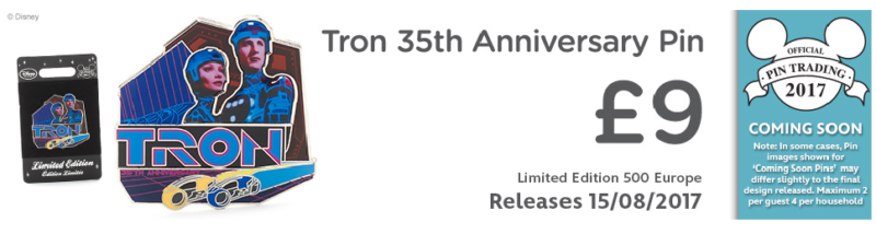 Tron 35th Anniversary Pin