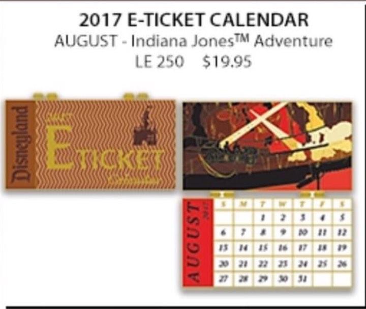WDI 2017 Calendar Pin – Indiana Jones Adventure