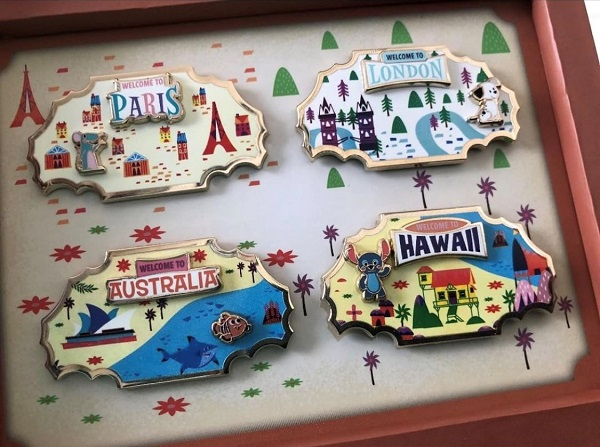 Around the World DMR Pin Collection
