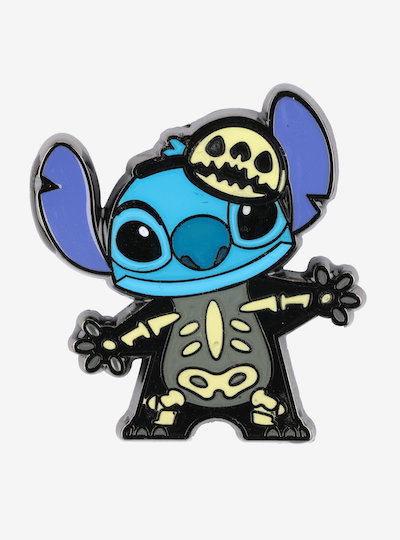 Lilo & Stitch Skeleton Enamel Pin