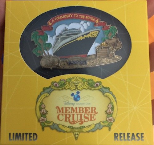 Disney Vacation Club Member Cruise 2017 Pin Gift