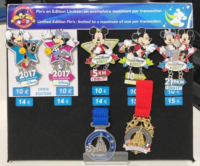 Disneyland Paris Half Marathon Weekend 2017 Pins