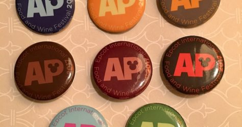 Epcot Internation Food & Wine Festival 2017 Buttons - AP Exclusive