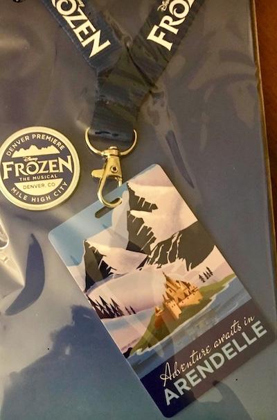 Frozen The Musical Pin & Lanyard - Denver, CO