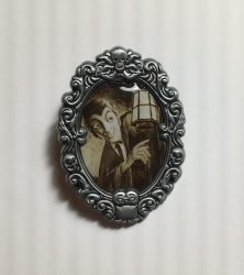 Haunted Mansion Lantern Ghost Cameo Pin