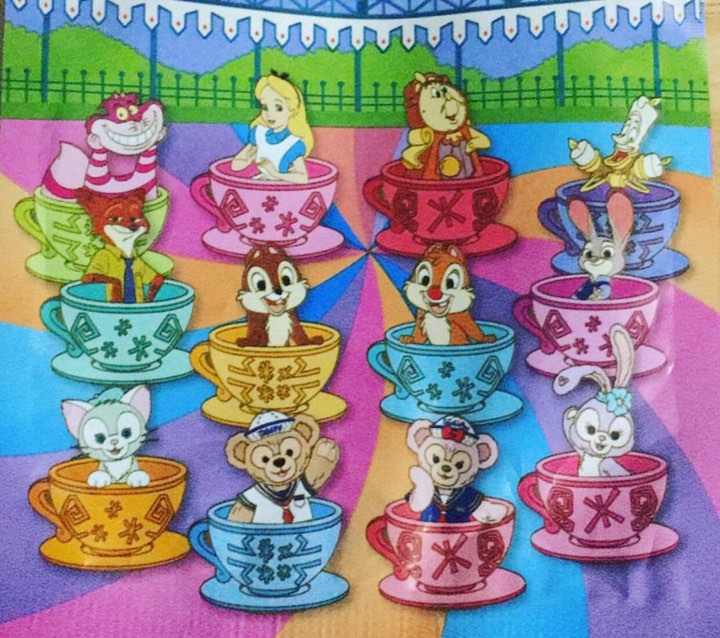 Hong Kong Disneyland Teacup Pins