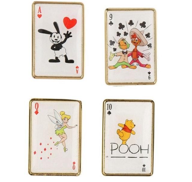 Japan Disney Store Playing Card Pin Set
