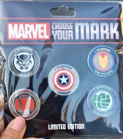 Marvel Choose Your Mark Pin Set