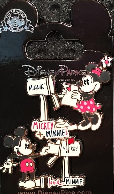 Mickey & Minnie Mailbox Pins