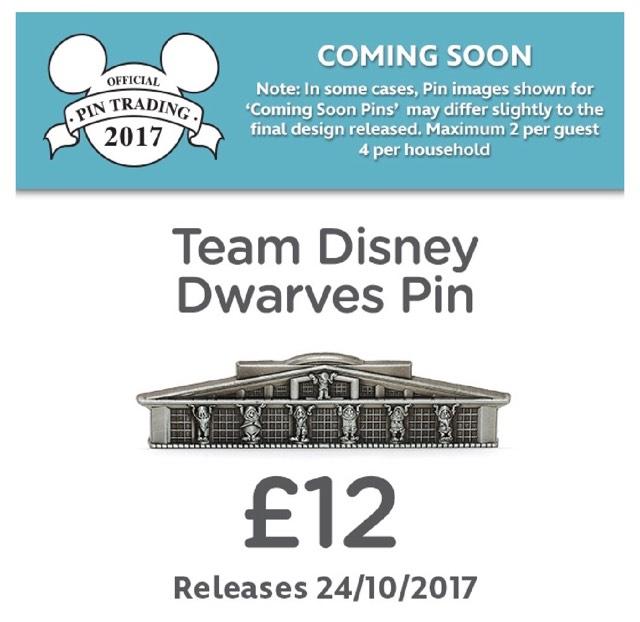 Team Disney Dwarves Pin