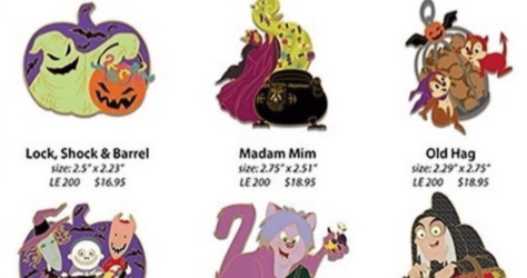 WDI Halloween Disney Pins 2017