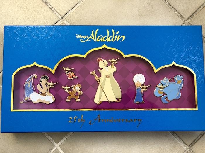 Aladdin 25th Anniversary Box Pin Set