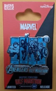 Avengers Super Heroes Half Marathon runDisney 2017 Pin