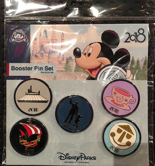 Booster Pin Set - Disney Parks 2018
