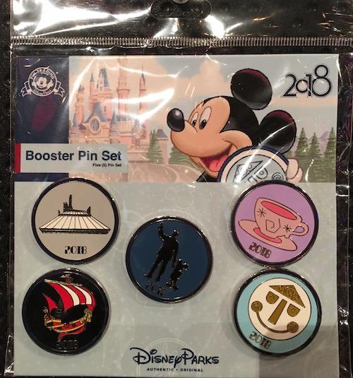 Booster Pin Set - Disney Parks 2018