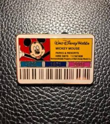 Cast ID Mickey Mouse Pin