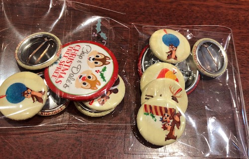 Chip & Dale's Christmas Tree Spree Buttons