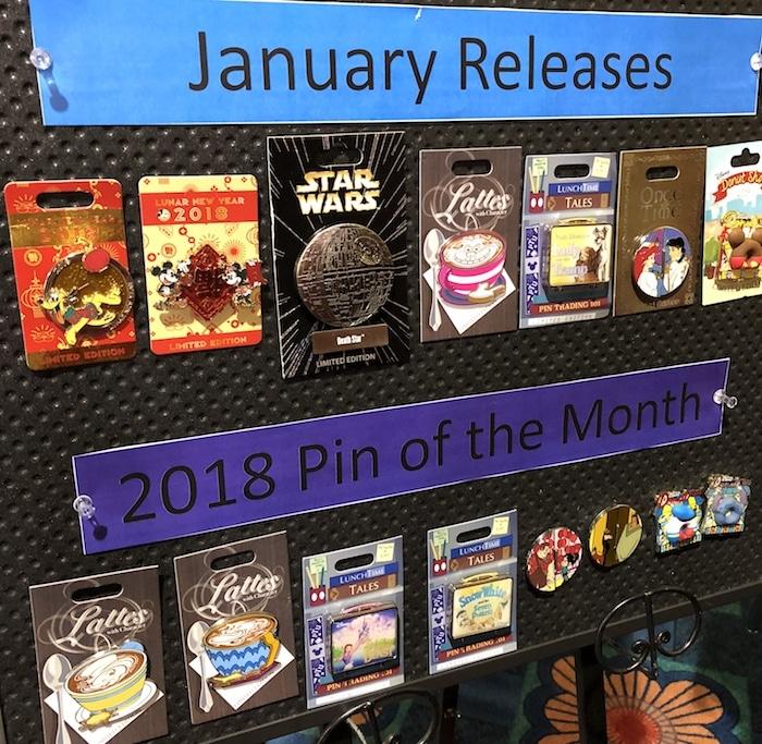 January 2018 Pin Previews