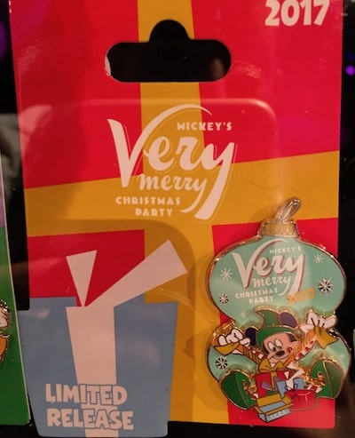 Mickey's Very Merry Christmas Party 2017 Logo Pin