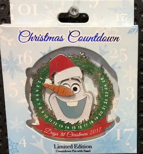 Olaf Countdown to Christmas Jumbo Pin