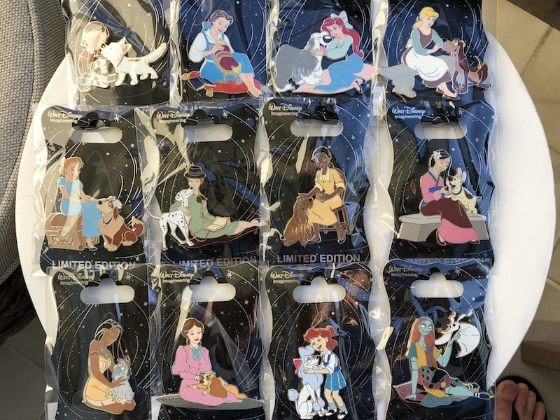 Princess with Dogs WDI Pins