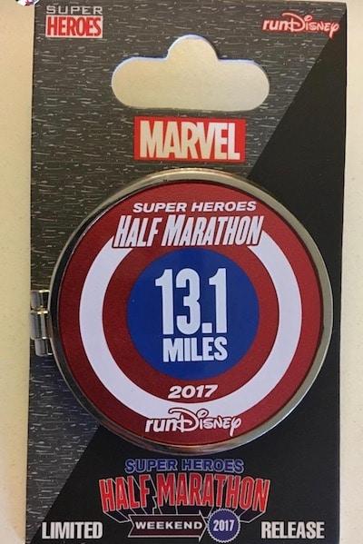 Super Heros Half Marathon runDisney Pin 2017