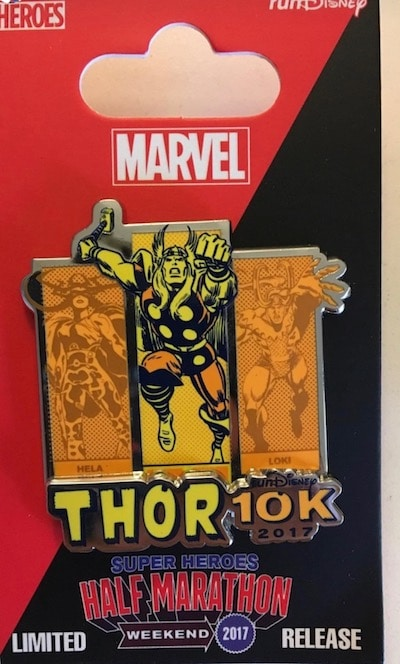 Thor 10k runDisney Pin 2017