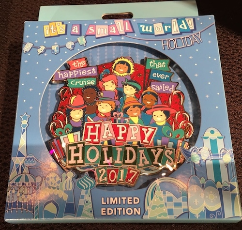 it's a small world Holiday Jumbo Pin 2017