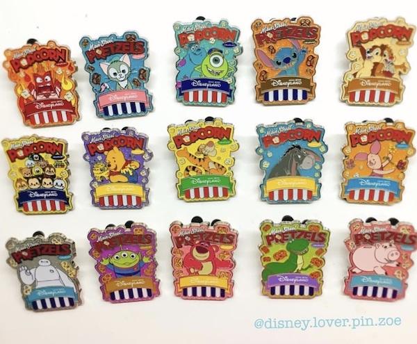 Disney Popcorn Amp Pretzel Mystery Pin Collection Disney