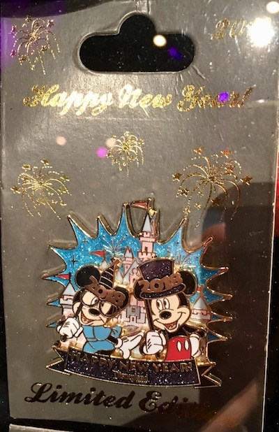 Disneyland Happy New Year 2018 Pin