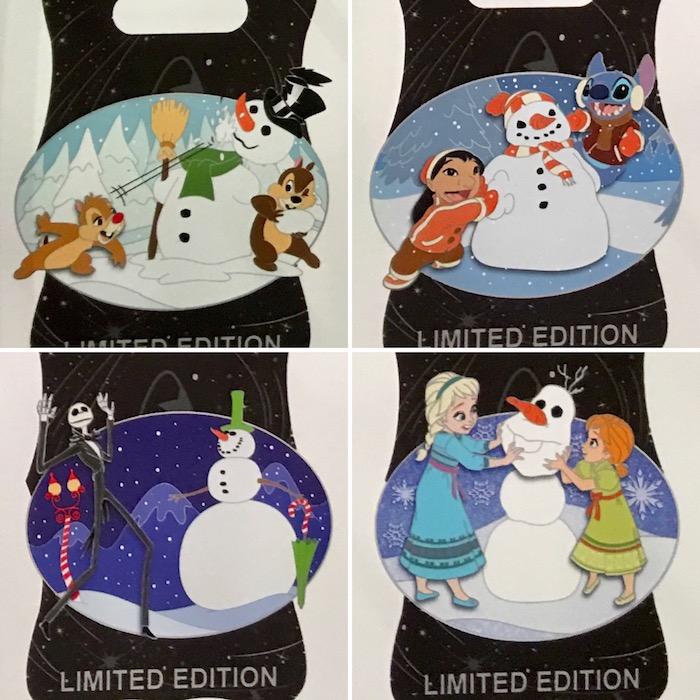 Do You Wanna Build a Snowman Disney Pins