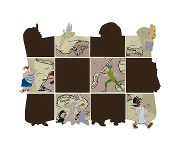 Neverland Map Reveal:Conceal Mystery Set